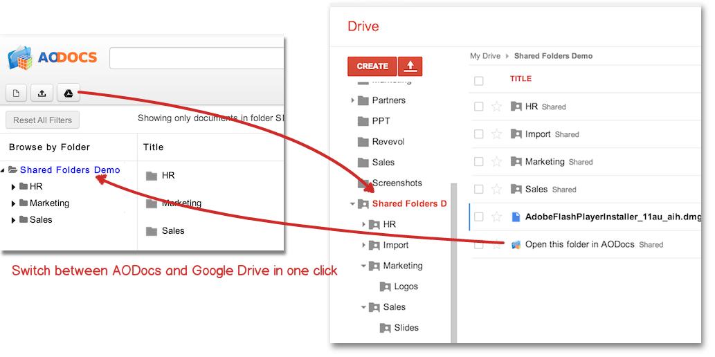 AODocs y Google Drive Scholarium