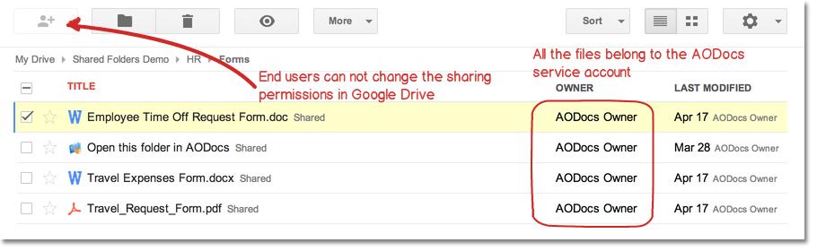 Archivos de AODocs en Google Drive Scholarium